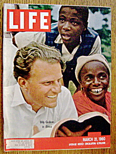 Life Magazine March 21, 1960 Billy Graham