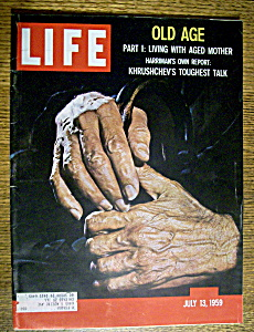 Life Magazine-july 13, 1959-old Age & Khrushchev's Talk