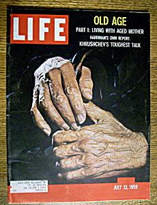 Life Magazine-July 13, 1959-Old Age & Khrushchev's Talk (Image1)