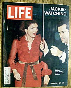 Life Magazine - February 12, 1971 - Jackie Watching (Image1)