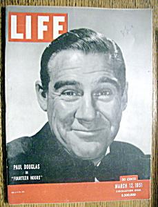 Life Magazine - March 12, 1951 - Paul Douglas (Image1)