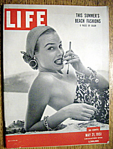Life Magazine - May 21, 1951 - Beach Fashions