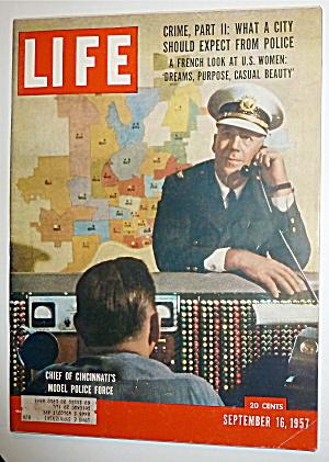 Life Magazine -September 16, 1957- Chief Of Cincinnati (Image1)