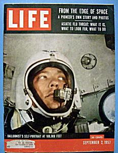 Life Magazine-September 2, 1957-Balloonist Portrait (Image1)