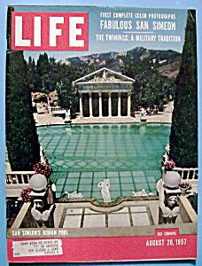 Life Magazine - August 26, 1957 - San Simeon's Pool (Image1)