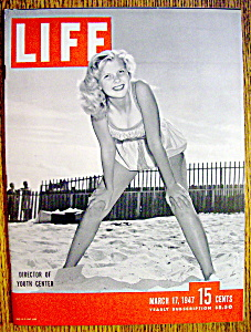 Life Magazine-march 17, 1947-director Of Youth Center
