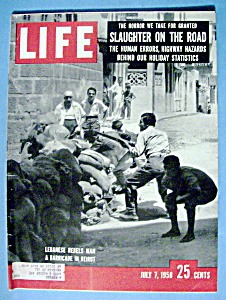 Life Magazine-july 7, 1958-lebanese Rebels Man