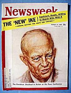 Newsweek Magazine - August 17, 1959 - The New Ike