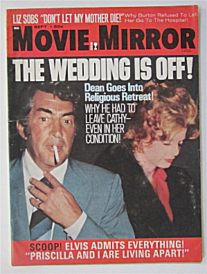 Movie Mirror Magazine September 1972 Dean Martin