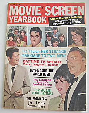 Movie Screen Yearbook 1967 Liz Taylor & The Monkees