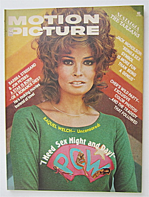 Motion Picture Magazine September 1975 Raquel Welch