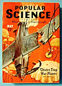 Popular Science Magazine-may 1940-chutes Trap War Plane