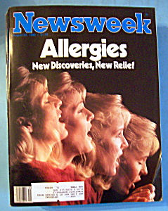 Newsweek Magazine - August 23, 1982 - Allergies