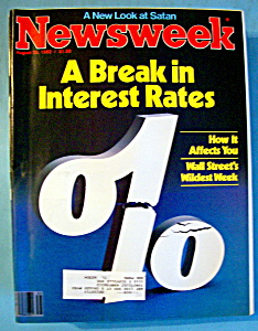 Newsweek Magazine - August 30, 1982 - Interest Rates