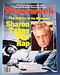 Newsweek Magazine -February 21, 1983- Sharon Takes Rap (Image1)