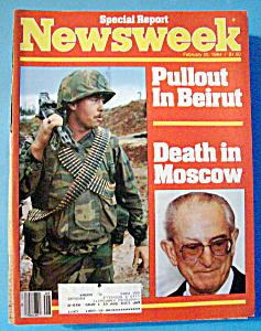 Newsweek Magazine - February 20, 1984 - Beirut & Moscow (Image1)