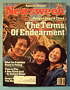 Newsweek Magazine -april 30, 1984- Reagan Goes To China