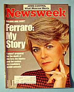 Newsweek Magazine - October 7, 1985 - Geraldine Ferraro