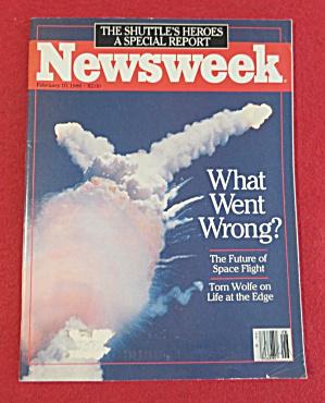 Newsweek Magazine February 10, 1986 Space Shuttle (Image1)