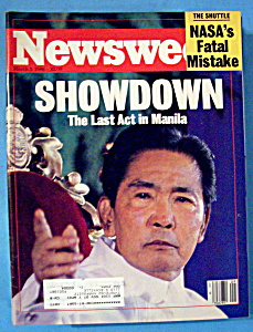 Newsweek Magazine - March 3, 1986 - Showdown