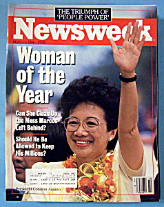 Newsweek Magazine - March 10, 1986 - Corazon Aquino