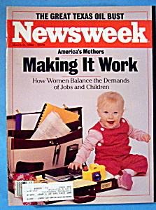 Newsweek Magazine - March 31, 1986 - America's Mothers