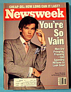 Newsweek Magazine - April 14, 1986 - Pierce Brosnan