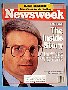 Newsweek Magazine - April 21, 1986 - David Stockman