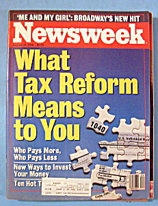 Newsweek Magazine - August 25, 1986 - Tax Reform