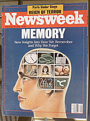 Newsweek Magazine-september 29, 1986-memory