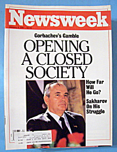 Newsweek Magazine -january 5, 1987- Gorbachev's Gamble