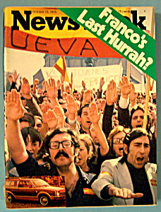 Newsweek Magazine-october 13, 1975-franco's Last Hurrah