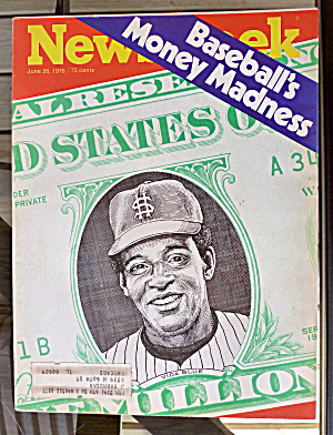 Newsweek Magazine-june 28, 1976-baseball-money Madness