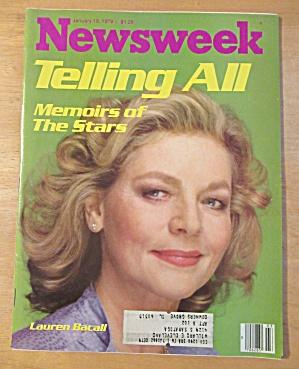 Newsweek Magazine-January 15, 1979-Lauren Bacall (Image1)
