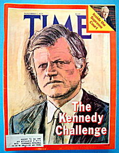 Time Magazine-november 5, 1979-kennedy Challenge