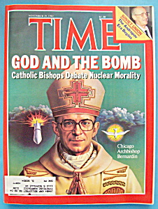 Time Magazine-november 29, 1982-god & The Bomb