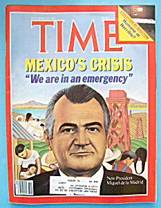 Time Magazine December 20, 1982 Mexico's Crisis