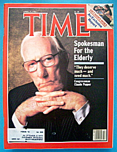 Time Magazine-april 25, 1983-congressman Claude Pepper