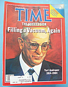 Time Magazine - February 20, 1984 - Yuri Andropov