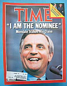 Time Magazine -june 18, 1984- Mondale Stakes His Claim