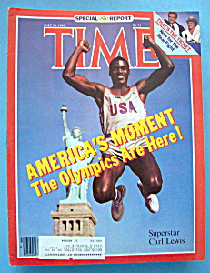Time Magazine-july 30, 1984-superstar Carl Lewis