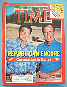 Time Magazine-august 27, 1984-republican Encore