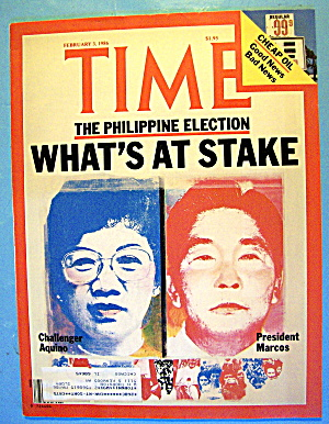 Time Magazine-february 3, 1986-aquino/marcos