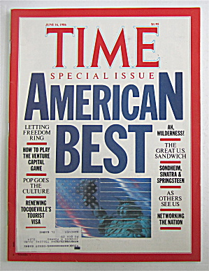 Time Magazine June 16, 1986 American Best