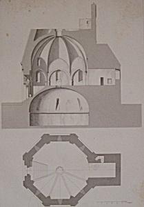Chapelle Funeraire, A Montmorillon  (1852 Lithograph) (Image1)