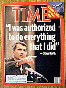 Time Magazine-july 20, 1987-oliver North