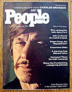 People Magazine - August 19, 1974 - Charles Bronson