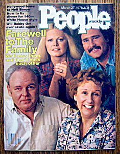 People Magazine -march 27, 1978- Farewell To The Family