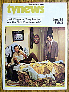 Tv News - Jan 26-feb 2, 1974 - The Odd Couple