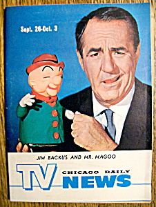 Tv News - Sept 26-oct 3, 1964 - Jim Backus & Mr. Magoo